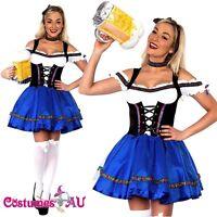 Sexy Oktoberfest Beer Maid Wench German Bavarian Heidi Fancy Dress Costume