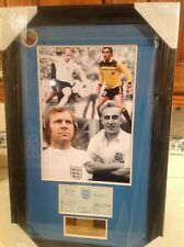 Centurions Autographed Pic,Bobby Moore,Peter Shilton,Billy Wright,Bobby Charlton