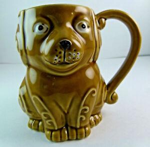 Dog shaped coffee tea mug cup, 3-D brown Puppy