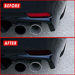 FOR 18-21 Toyota Camry Rear Reflectors SMOKE Vinyl Tint Overlays