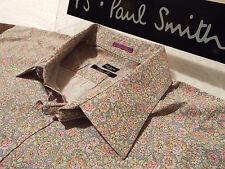 """Paul Smith Da Uomo Camicia 🌍 (Taglia 18"""" circonferenza petto 48"""") 🌎 RRP £ 95+ 📮 Floreale Stile Liberty"""