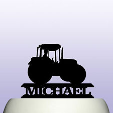 Personalised Acrylic Farm Tractor Cake Topper Decoration & Farmers Keepsake Gift