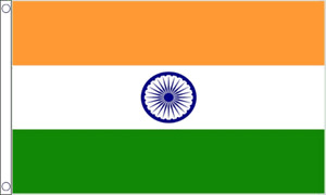 INDIA FLAG LARGE 5 x 3 ft INDIAN TIRANGA CHAKRA NATIONAL BANNER BRASS EYELETS UK