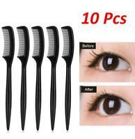 FJ- 10Pcs Mini Folding Eyebrow Eyelash Extension Comb Brow Brush Beauty Makeup T