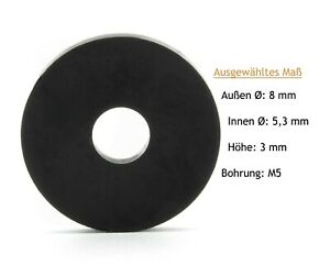 Distanzhülsen für M5 Distanzstücke Rund aus Kunststoff Unterlegscheiben Hülsen