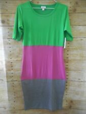 NWT LulaRoe Julia Dress Size XS Color Block Dress
