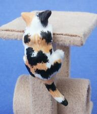 Miniature Dollhouse Climbing Calico Cat 1:12 Scale New