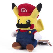 Pokemon Pikachu Super Mario Plush Doll Soft Toy Figure Xmas Gift 9 inch US Ship