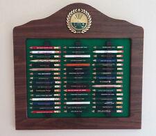 Golf Pencil Display, Golf Gift, Golf Pencil Holder, Pencil Rack - Walnut Finish