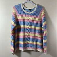 Talbots Women's Size XL Cable Chunky Knit Long Sleeves Pullover Sweater