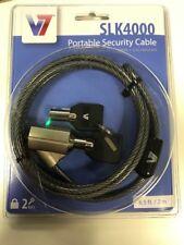 V7 SLK4000 Portable Laptop Security Cable 6.5ft/2m
