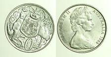 pcc1243_4) ESTERE - QUEEN  ELIZABETH II AUSTRALIA  SILVER 50 CENTS 1966
