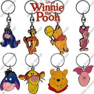 Disney Winnie The Pooh Licensed Metal Key Rings Pooh Eeyore Piglet And Tigger