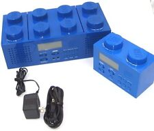 LEGO Brick Boombox with CD player AM/FM Radio Alarm Clock --LG 11003 -- 2010
