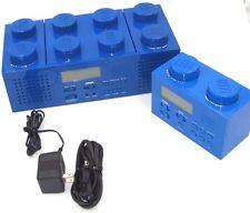 LEGO Brick Boombox with CD player AM/FM Radio Alarm Clock --LG 11003 -- 2010