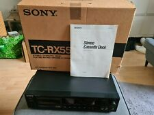 Sony TC-RX55 cassette deck with instructions and original box