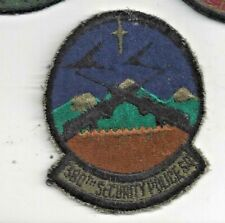 PATCH USAF 380th  SECURITY POLICE SQUADRON SPS                JD