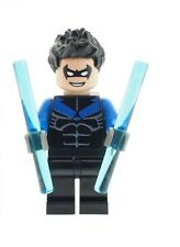 Custom Designed Minifigure Nightwing Figure Printed On LEGO Parts