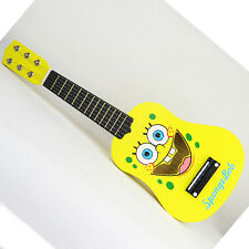 21 Inches 6 String Wooden Acoustic Guitar Kids Music Educational Toy - SpongeBob