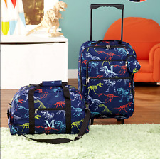 Luggage for Kids Boys Set Small Rolling Suitcase Duffel Bag Dinosaur Letter M