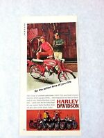 """1967 """"Action Time of Your Life"""" Harley Davidson Motorcycles Original Print Ad"""