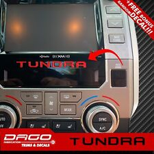 Radio Dashboard Raised Letters Interior Decals 3D Domed for Toyota Tundra 2020
