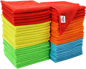 Microfiber Cleaning Cloth Set of 50 Towel Rag Car Polishing Detailing No Scratch