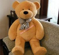 63'' Giant Huge Big Brown Teddy Bear Plush Soft Animals Toys Doll Gift 160Cm