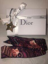 Christian Dior Mitzah Scarf Floral Handbag Accessory Star Charm Gift Box