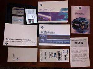 2001 BMW E39 5 Series Sedan & Wagon OEM Owner's Manual in Original Leather Case