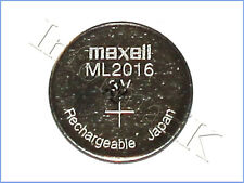 Maxell ML2016 ML 2016 Pila Batteria Ricaricabile Rechargeable Coin Cell Battery