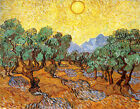 Olive Trees With Yellow Sky by Van Gogh, Giclee Canvas Print, in various sizes