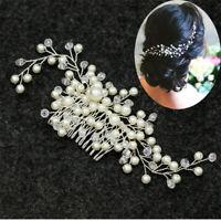 Bride Hair Comb Pearl Headwear Rhinestone Women Jewelry Wedding Accessories New