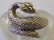 Snake Ring - Uk Size L No Reserve Fine Vintage 925 Solid Silver