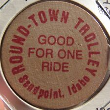 1987 Round-Town Trolley Sandpoint, ID Transit Token - Idaho Ida.
