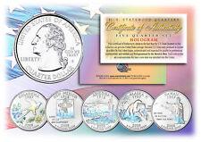 2008 US Statehood Quarters HOLOGRAM *** 5-Coin Complete Set *** w/Capsules & COA