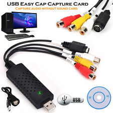 USB 2.0 VHS TAPE TO PC DVD CONVERTER VIDEO & AUDIO CAPTURE CARD/ADAPTER OS