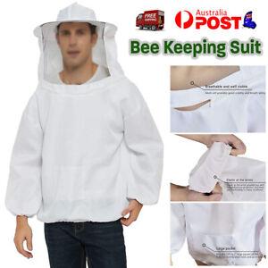 Bee Keeping Suit Protective Coat Pull Tops Beekeeping Smock Jacket Veil Hat Over