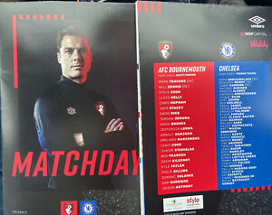 27/7/2021.1st TEAM FRIENDLY AFC BOURNEMOUTH v CHELSEA OFFICIAL PROGRAMME