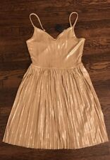 ! NWT hollister gold shine pleated skater style fancy dress SIZE small womens