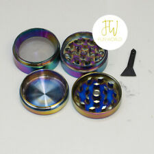 Two 4 Layers Metal Crusher Hand Muller Herbal Herb Grinder Fast Shipping