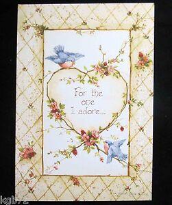 Leanin Tree Valentine Card Valentine's Day Love Romance Birds Love V16