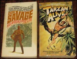 U - TARZAN ALIVE & DOC SAVAGE HIS APOCALYPTIC LIFE Philip Jose Farmer PBs 1970s