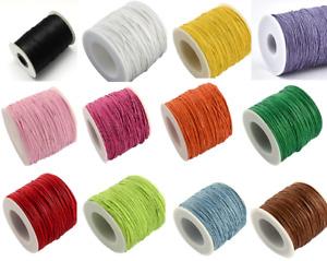 5-10M 1mm Waxed Beading Macrame Cotton Thread Cord String Bracelet Necklace DIY