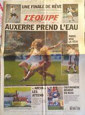 L'Equipe Journal 3/11/2002; Lleyton Hewitt-Safin en finale de Bercy/ Auxerre