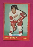 1973-74 OPC # 33 RED WINGS HENRY BOUCHA ROOKIE  NRMT+ CARD (INV#5863)