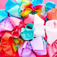 jo large 8 inch rainbow hair bow (check out our other bows, bows listed daily)