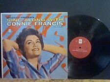 CONNIE FRANCIS  Sing Along With . . .    LP   U.S. pressing   RARE !!