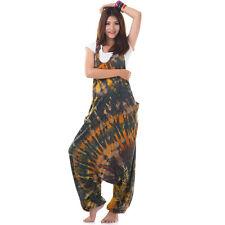 Lila Batik Jumper Haremshose Aladinhose Pumphose Overall Jumpsuit 38 40 42 44