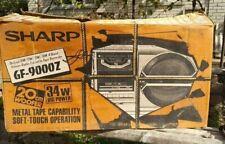SHARP GF 9000Z + BOX + DOCUMENTS VINTAGE RARE BOOMBOX